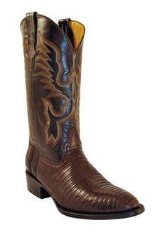 Mens Ferrini Brown Dark Chocolate Teju Lizard Skin Western R Toe Boots Cowgirl Boots, Western Boots, Cowboy Gear, Western Cowboy, Safari, Mens Boots Fashion, Stylish Boots, How To Look Classy, Classic Leather