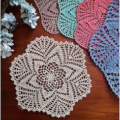 This doily is 19 rounds. Materials needed are size 10 thread of your choice. One 300-350 yd ball is more than enough for this doily. Also needed is a 1.75 mm crochet hook.