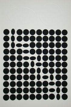 Sérigraphie - Victor Vasarely - Geh durch den Spiegel