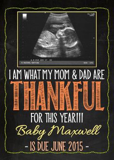 Fall Themed Pregnancy Announcement Card with by MMasonDesigns
