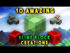 How to make a bomber plane in minecraft youtube perler beads 10 amazing slime block redstone creations in minecraft youtube ccuart Gallery