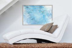 Untitled  Blue Abstraktes Gemälde auf von HighholderArtwork auf Etsy