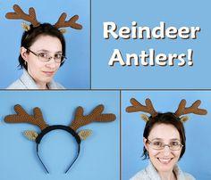 crocheted reindeer antlers and ears by planetjune, via Flickr