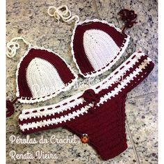 * Pérolas do Crochet: Biquini em croche com fio Verano