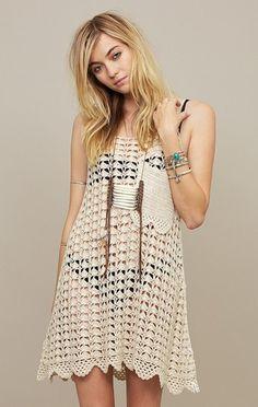 Canyon Crochet Dress - Lyst