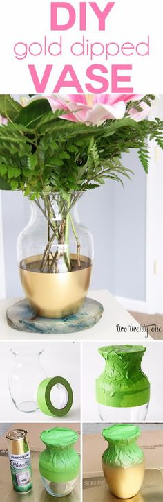Amazing Spray Paint Project Ideas to Beautify Your Home Spray Paint Projects, Diy Spray Paint, Spray Painting, Diy Décoration, Dyi, Easy Diy, Gold Diy, Home Decor Vases, Diy Home Decor