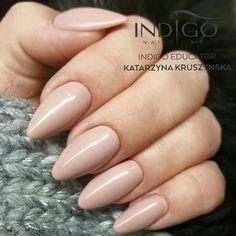 Nude Beige Gel Polish by Indigo Educator Katarzyna Kruszyńska, Ireland #nails #nail #nude #beige #indigo #indigonails #nudenails #winternails