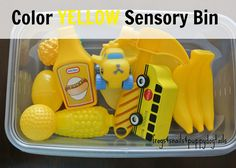 Color Yellow Sensory Bin For Baby, Toddler, and Up by FSPDT