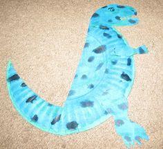 Tyrannosaurus Rex paper plate activity