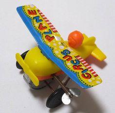 ★ブリキ玩具 ぜんまい飛行機 宙返り サーカスプレーン 日本製★_画像2
