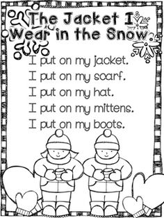 Printable Class Book For The Book The Jacket I Wear In The Snow