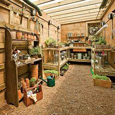 Organize Your Garden Shed | No-Fuss Floor | SouthernLiving.com