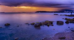 sunset and ocean storm Ocean Storm, See The Sun, Sunrises, Order Prints, Distance, Landscapes, Rain, River, World