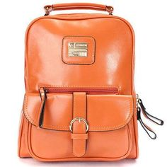#NewChic - #NewChic Vintage Women PU Leather Backpack Travel Rucksack - AdoreWe.com