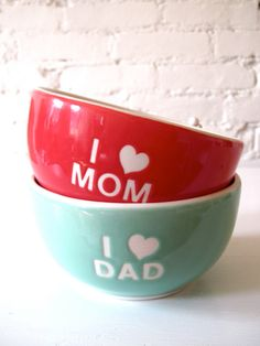 i love mom and dad bowls on etsy $60