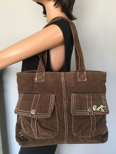 ROXY Bag Corduroy Brown Designer Fashion Hip Boho Trendy Female #Roxy #Hobo