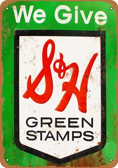 Wall-Color 7 x 10 METAL SIGN - S&H Green Stamps - Vintage Look Reproduction - Very easy to use.ContentsProduct descriptionProduct comparisonHow do Metal Signage, Indoor Flower Pots, Nostalgic Candy, Best Led Grow Lights, Vintage Metal Signs, Advertising Signs, Metal Tins, Vintage Looks, Decorative Accessories