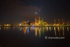 Stars above the Tall Ships, Belfast, Northern Ireland.