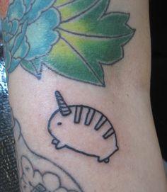 Hamstercorn tattooed by Kendal at Damask Tattoo in Seattle, WA  hamster tattoo, funny tattoos, comical tattoos, outline tattoo, unicorn tattoos