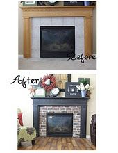 before and after of fireplace. There are a LOT of ugly old fireplaces in Erie so I will need to remember this