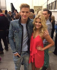 Cody Simpson with DWTS partner Witney Carson. via dailymail.co.uk