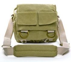 Cosmos ® Khaki Green Shoulder Canvas Outdoor Camera Bag 22