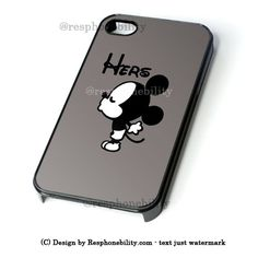 Mickey Mouse Hers iPhone 4 4S 5 5S 5C 6 6 Plus Case , iPod 4 5 Case , – Resphonebility