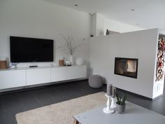 Use these IKEA Besta unit hacks to up-cycle a basic unit into a wonderfully unique piece of furniture. These IKEA Besta unit ideas are easily achievable and done at little expense.yet add plenty of value! Tv Stand Minimalist, Modern Minimalist Living Room, Unique House Design, Cool House Designs, Home Design, Modern Design, Living Tv, My Living Room, Japanese Living Room Decor