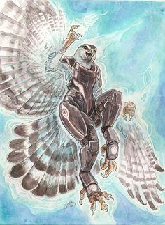 Biotic Goshawk Goddess by caramitten on deviantART