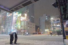 Akihabara snow by Takumi Suidu