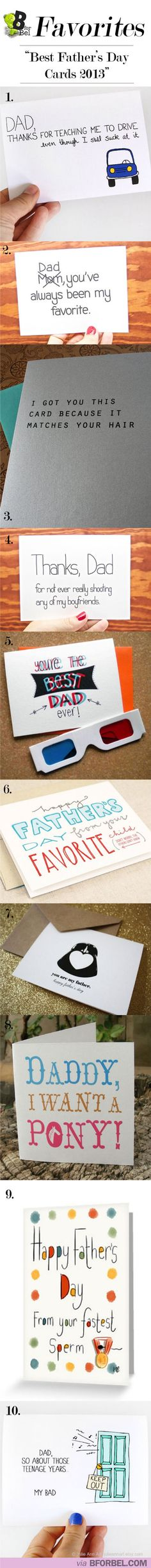 Father's Day cards - funny! http://www.giftideascorner.com/christmas-gifts-dad