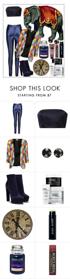 """Circus #14 🎪"" by katya01 ❤ liked on Polyvore featuring Katie Ermilio, Topshop, Casadei, Bobbi Brown Cosmetics, Yankee Candle, Burt's Bees, Victoria's Secret, Blue, circus and elephant"