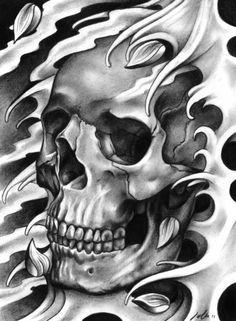 Airbrush body art ideas 66 Ideas for 2019 Skull Tattoo Design, Skull Design, Skull Tattoos, Sleeve Tattoos, Neue Tattoos, Bild Tattoos, Arte Viking, Model Tattoo, Brust Tattoo