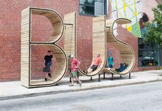 bus stop art baltimore