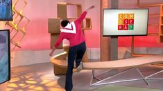 BRAZILIAN TV HOST FALLS LIVE