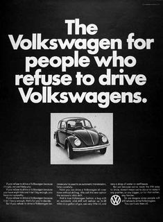 The Volkswagen for people who refuse to drive Volkswagens.