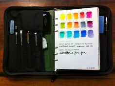 Sketching Kit, via Flickr. CUT LARGEST JOURNAL PAPER INTO SKETCH PAD SIZE