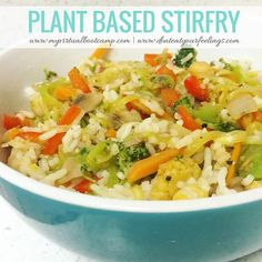 Yummy recipe! I have been really into bowls lately...& I definitely get on kicks where I eat the same things over & over. Do you do this, too? Or do you like to change it up? Plant based stirfry... - Broccoli - Cauliflower - Red bell pepper - Carrots - Zucchini noodles - Basmati rice - Garbanzo beans - Onions - Garlic - Garlic Coconut Aminos (tried this for the first time - SO GOOD) - Himalayan salt & pepper   Would you try this? What types of recipes or food stuff are you most interested…