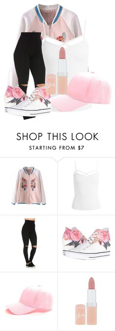 """floral & pink"" by jxlivnne on Polyvore featuring Sans Souci, Converse and Rimmel"