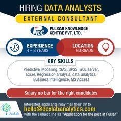 Hiring #DataAnalytics – External consultant