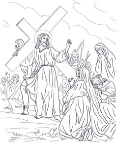 Speaks To The Holy Women Coloring Page From Good Friday Category Select 27115 Printable Crafts Of Cartoons Nature Animals Bible And Many More