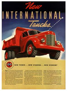 New Heavy Duty International Trucks Ad.