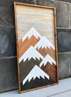 Wood Projects, Woodworking Projects, Whiskey Barrel Furniture, Wood Mosaic, Blue Pictures, Lake Cottage, Mountain Art, Wood Slats, Barn Quilts