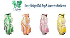 NEW at SlamGlam!  Fun and sporty golf bags & accessories for women!