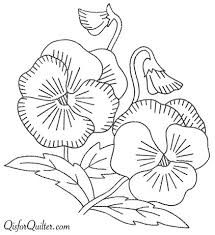 vintage pansy embroidery pattern - Google Search