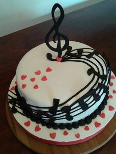Pretty Cakes, Cute Cakes, Bolo Musical, Music Note Cake, Music Cookies, Sweet Recipes, Cake Recipes, Music Themed Cakes, High Heel Cupcakes