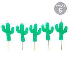 Make the Cake!Hip hip hooray! Only Sunnylife can make cake even better. Place these cute little cacti atop a cake, donut, flan, tart or cupcake and deepen the delight. - 15 min burn time4 x 1.5 x 11 cm