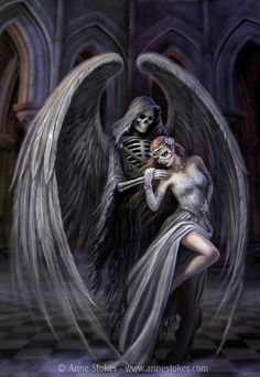 Dance With Death by Anne Stokes (www.facebook.com/annestokesart)