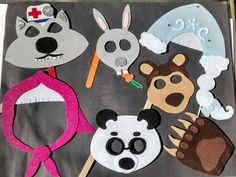 Leave a note at checkout, letting us know which characters you would like.  Our photo props are made out of sturdy/stiff felt and are re-usable. They wont bend or rip easily like printable/paper props.  With high demand, it can take 1-3 weeks for production before shipping, but often we ship them sooner. If you need a rush, contact us with the date of your party and/or select priority shipping when checking out. Finished product may vary slightly from photo.  Contact me if you ...