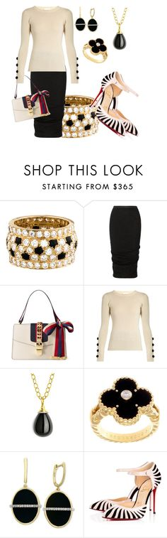 """""""Casual yet chic"""" by ellenfischerbeauty ❤ liked on Polyvore featuring Cartier, Rick Owens, Gucci, See by Chloé, Syna, Van Cleef & Arpels, Effy Jewelry and Christian Louboutin"""